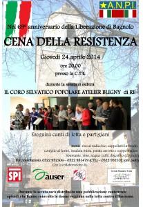 CENA RESISTENZA 2014 bagnolo